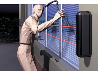 Barriera a raggi infrarossi da esterno